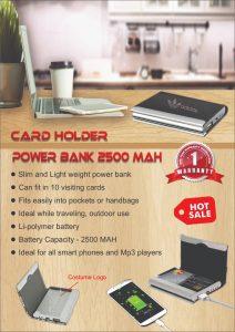Powerbank Card Holder 2500mah