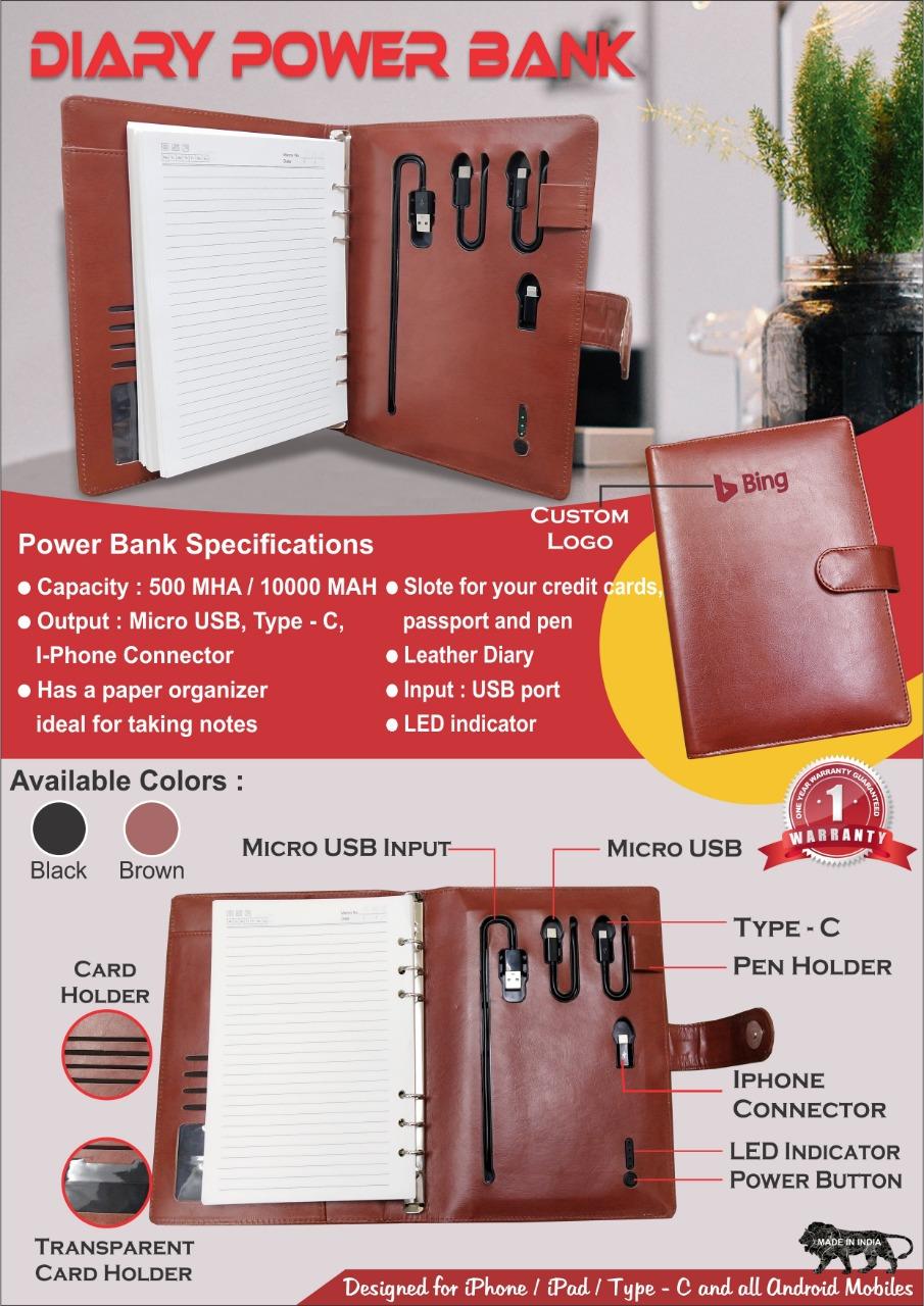 Powerbank Diary 10000 mah