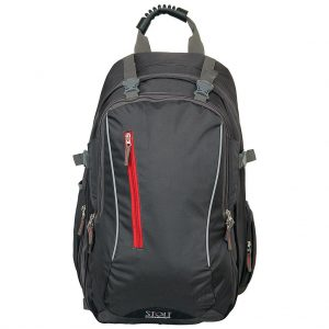 Wright Gray & Red Backpack
