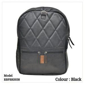 Leather Backpack 0038 Black