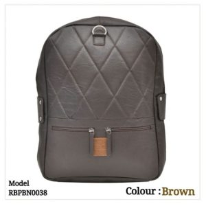 Leather Backpack 0038 Brown