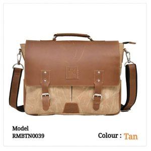 Leather Office Laptop Messenger Bag 0039 Tan Brown