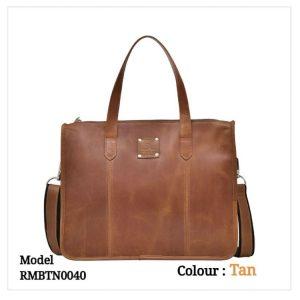 Leather Office Laptop Messenger Bag 0040 Tan Brown