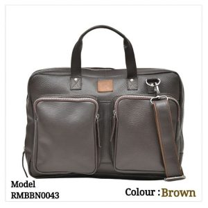 Leather Office Laptop Messenger Bag 0043 Brown