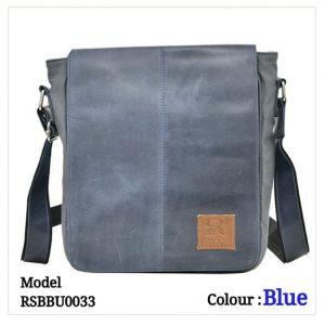Leather Sling Bag 0033 Blue