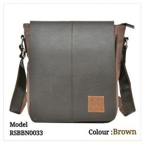 Leather Sling Bag 0033 Brown