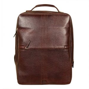 16 Inch Leather Backpack Bags for Men and Women (Brown)