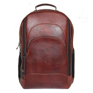 18-inch Brown Leather Backpacks for Men and Women