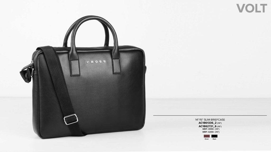 Leather Laptop Bag Black