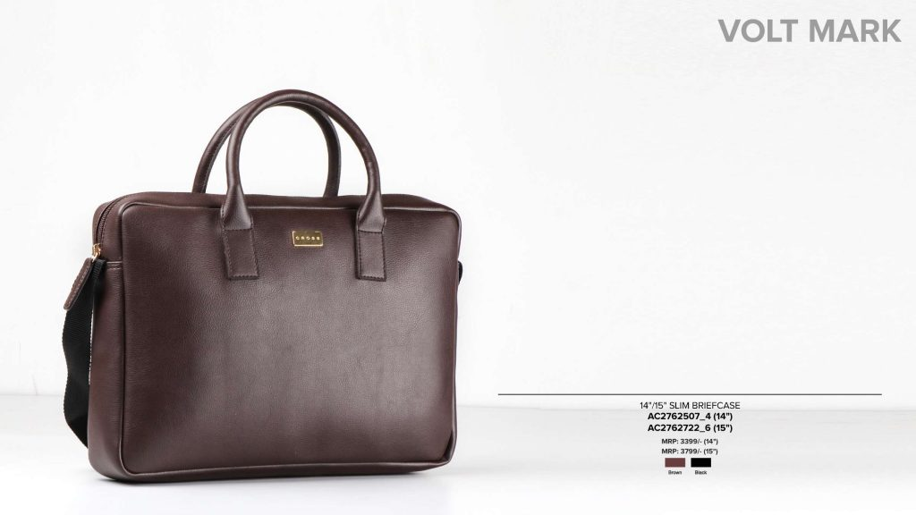Leather Laptop Bag Brown