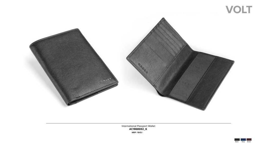 CROSS Passport Cover Leather Wallet Card Holder