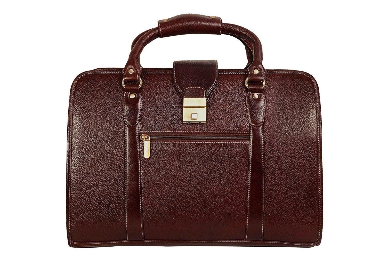 Men's Leather Shoulder Bag Brown HL62