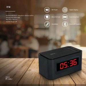 X16 - Bluetooth Speaker with Digital Clock