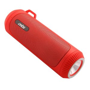 Artis BT22 Portable Wireless Bluetooth Speaker with LED Flash Light Red