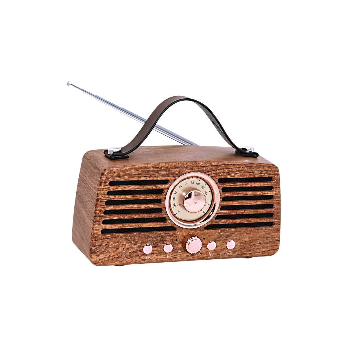 Artis BT45 Retro Portable Wireless Bluetooth Speaker with Analog Control