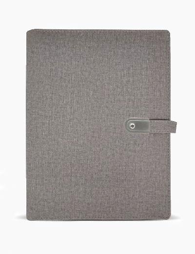 JDPBU10000 - Jute Diary with Powerbank and USB