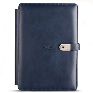 Pennline Wireless Organizer Diary with 4000mAh Powerbank & 16GB USB - Blue