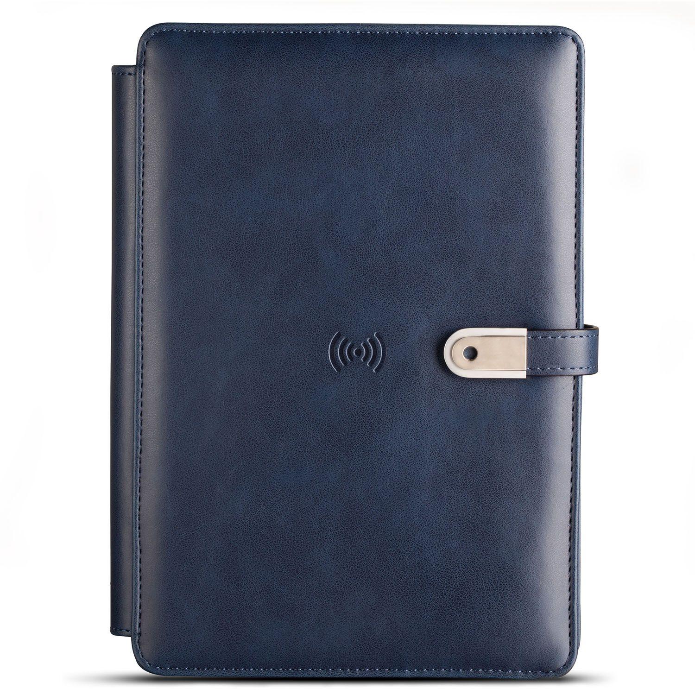 Pennline Wireless Organizer Diary with 4000mAh Powerbank & 16GB USB - Blue