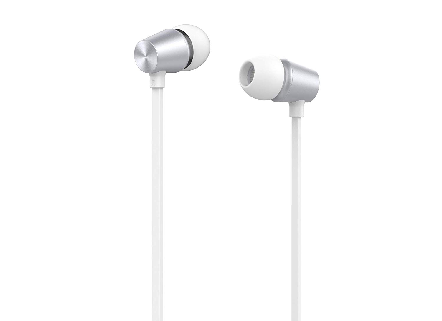 Pebble Crome Sweat-Proof Head Phone with Super Bass White