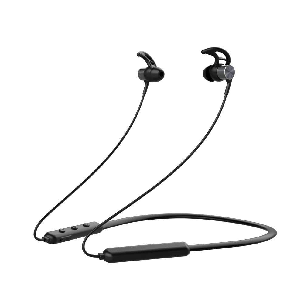 Pebble Spirit Loop Wireless Neckband Earphone (Black)