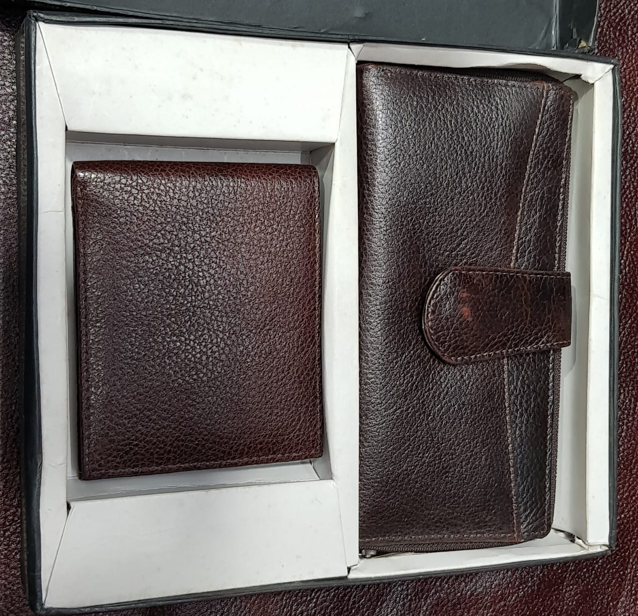 Leather Men & Women Wallet Gift Set Combo
