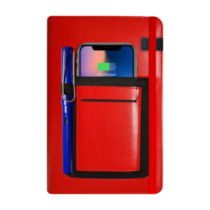 Wireless Tech Book - Diary with Mobile Powerbank & Holder