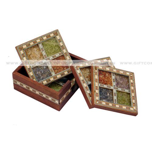 Gemstone Handicraft Tea Coasters