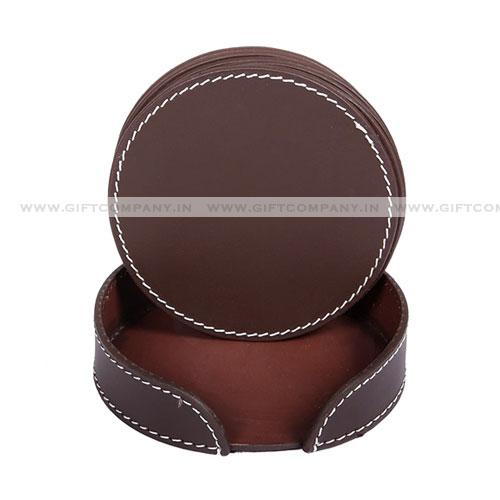 Leatherite PU Tea Coasters