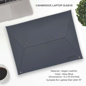 Cambridge Laptop Sleeve - Navy Blue