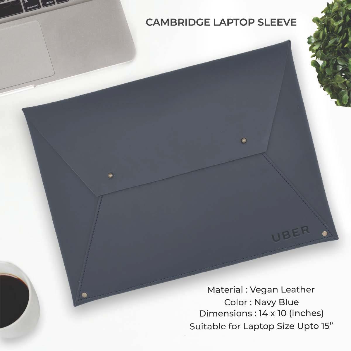 Cambridge Laptop Sleeve - Navy Blue