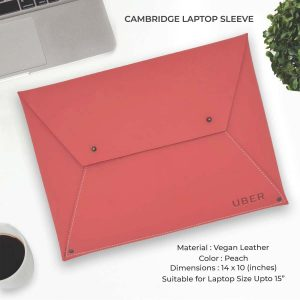 Cambridge Laptop Sleeve - Peach