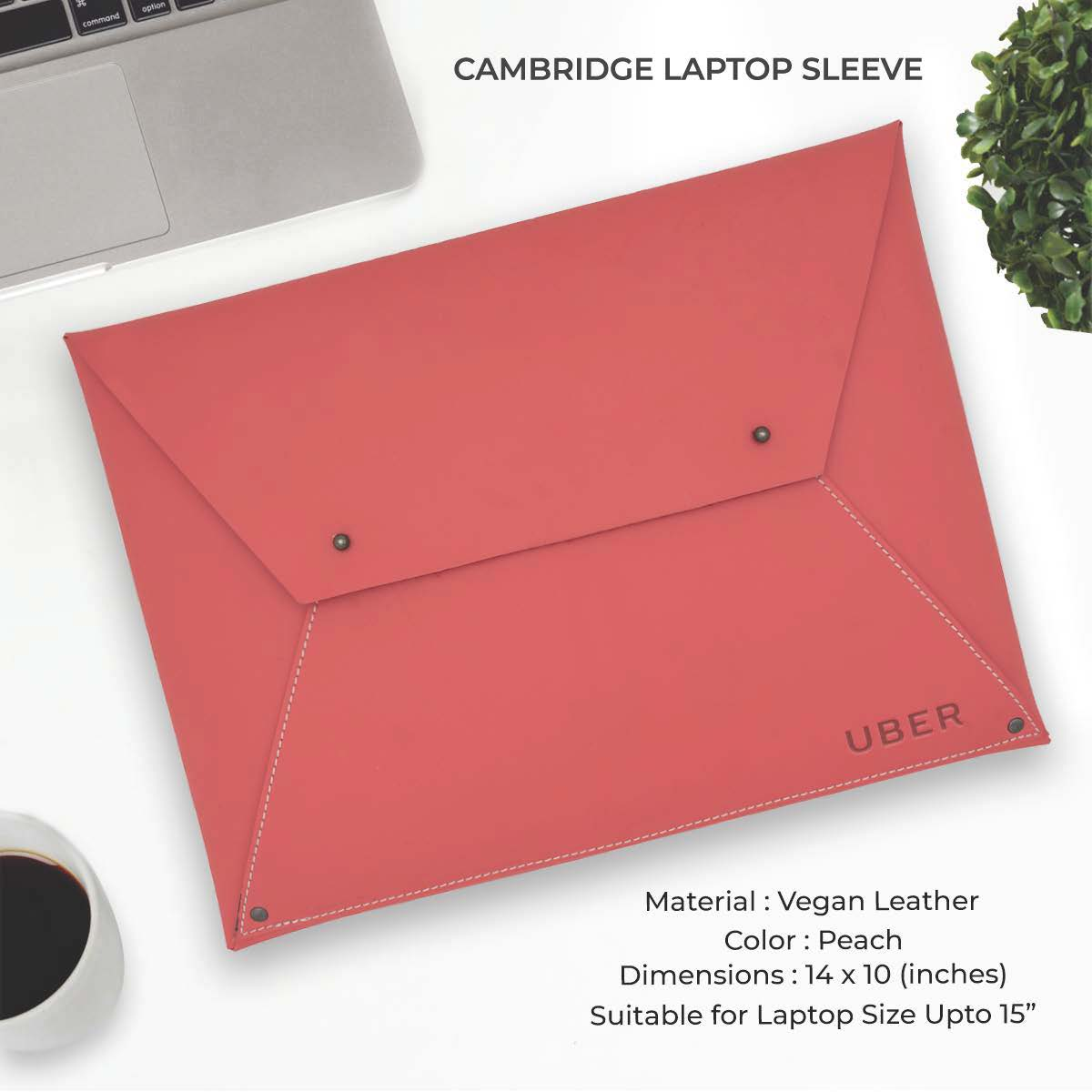 Cambridge Laptop Sleeve - Peach