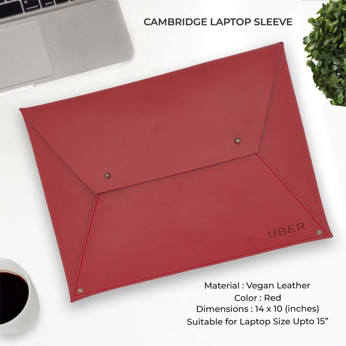 Cambridge Laptop Sleeve - Red