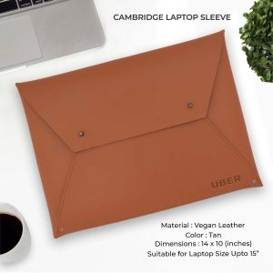 Cambridge Laptop Sleeve - Tan Brown