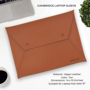 Cambridge Laptop Sleeve - Tan Brown