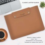 Classic Laptop Sleeve - Tan Brown