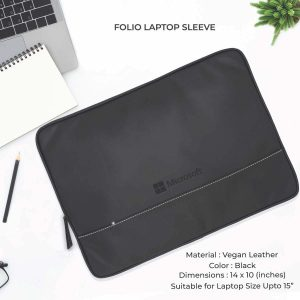 Folio Laptop Sleeve - Black