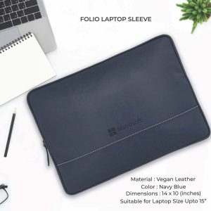 Folio Laptop Sleeve - Navy Blue