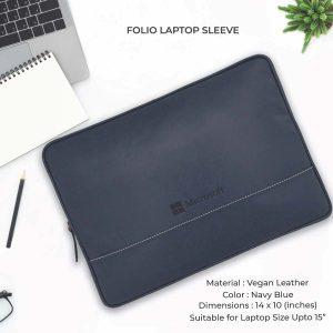 Folio Laptop Sleeve - Navy Blue
