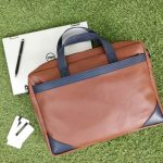 Laptop Bag CE2 - Tan Brown & Navy Blue