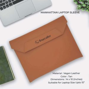 Manhattan Laptop Sleeve - Tan Brown