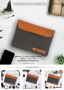 Xavier Multi Utility Amenity Kit - Grey & Tan
