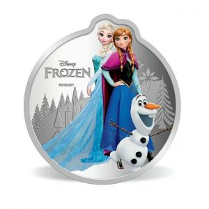 MMTC-PAMP Disney Frozen Colored 31.1 gm Silver (999.9) Coin
