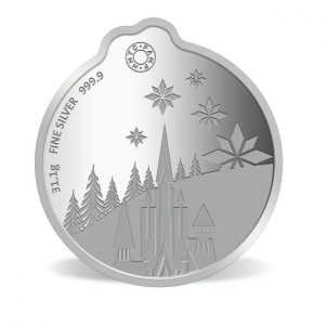 MMTC-PAMP Disney Frozen Colored 31.1 gm Silver (999.9) Coin Back