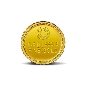 MMTC-PAMP Lotus 0.5 gm (999.9) Gold Coin