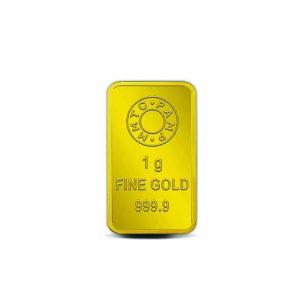 MMTC-PAMP Lotus 24k (999.9) 1 gm Gold Bar