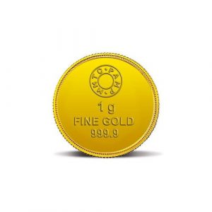 MMTC-PAMP Lotus 24k (999.9) 1 gm Gold Coin