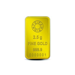 MMTC-PAMP Lotus 24k (999.9) 2.5 gm Gold Bar
