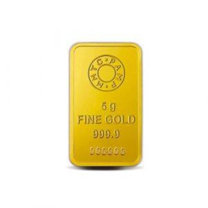 MMTC-PAMP Lotus 24k (999.9) 5 gm Gold Bar