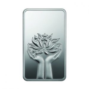 MMTC-PAMP Lotus 999.9 Purity 100 gm Silver Bar